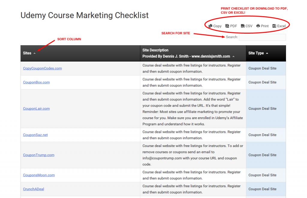 Udemy Course Marketing Checklist