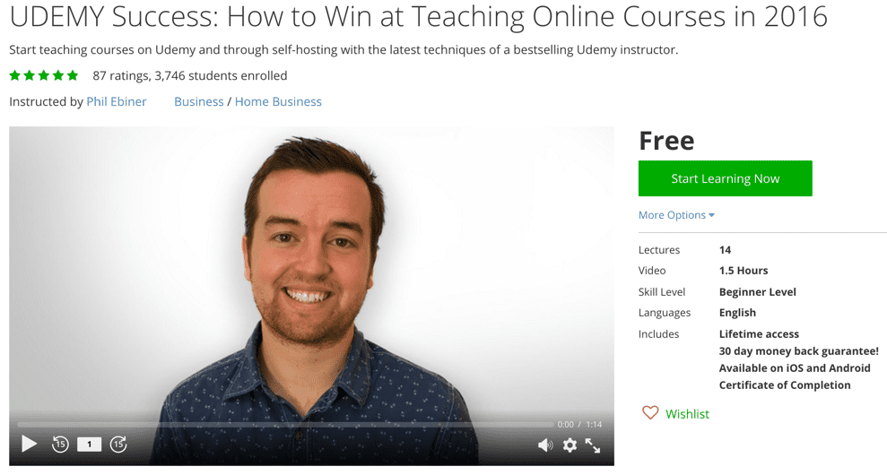 UDEMY Success- How to Win at Teaching Online Courses in 2016